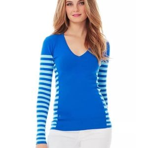 Blue Striped Lilly Pulitzer Adelaide Sweater